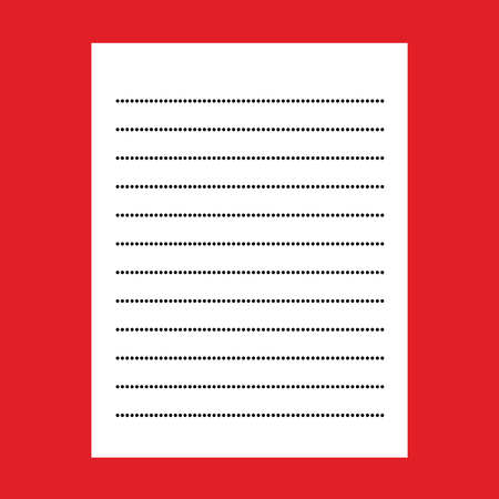 paper note: note paper on red background Illustration