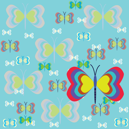 butterfly background: colorful butterfly with background