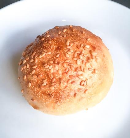 bun with sesame seed