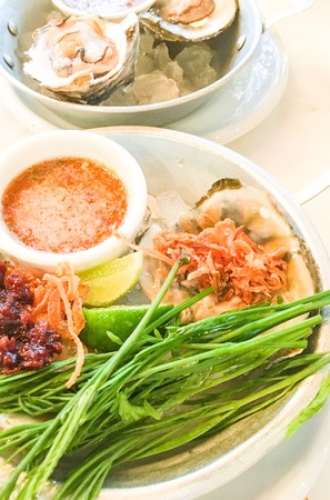 fresh oyster Thai style