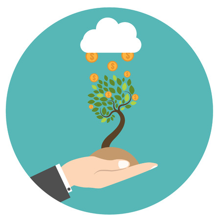 new business: New business model. New business project start up. Illustration