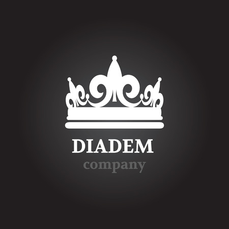 pageant: Diadem vector silhouette icon Illustration