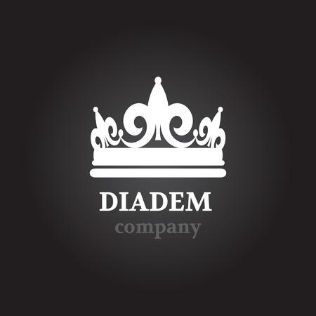Diadem vector silhouette icon Vector