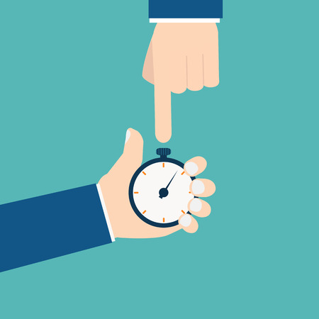 stop watch: Businessman with stop watch Illustration