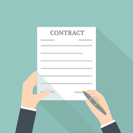 signing a contract: Hand Signing Contract