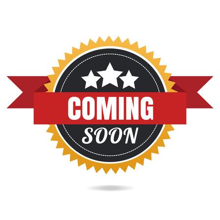 Coming soon vector banner. Reklamní fotografie - 40984842