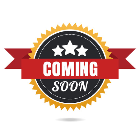 grand sale sticker: Coming soon vector banner.