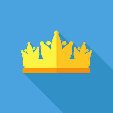 pageant: Diadem vector illustration in flat style Illustration