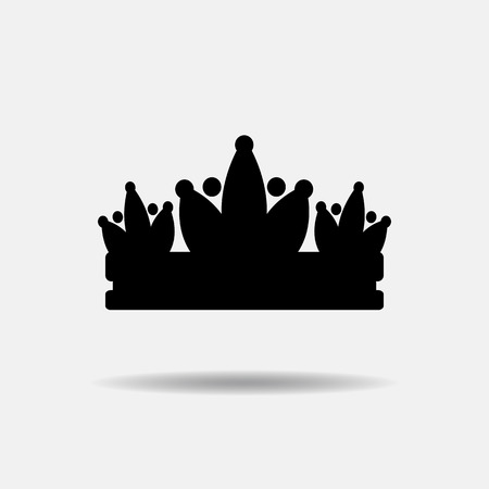 beauty pageant: Diadem vector illustration silhouette.