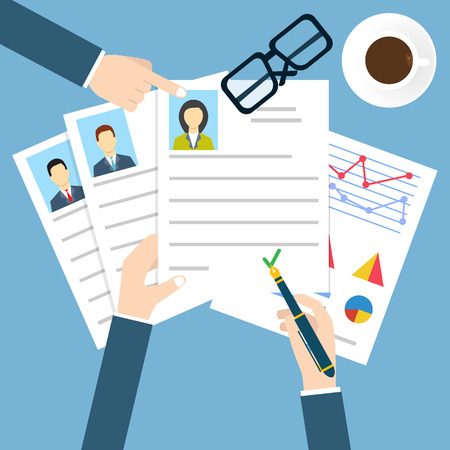 puesto de trabajo: Entrevista de trabajo Vectores