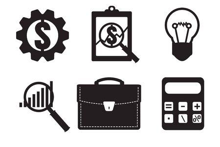 examiner: Financial examiner icon. Economic statistic icon. Vector illustration.