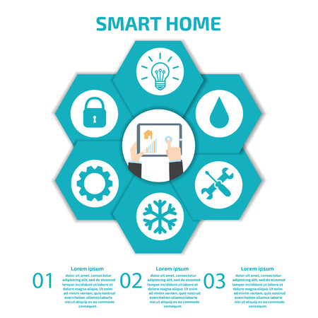 smart person: Smart Home Infographic
