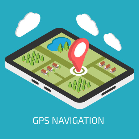 gps device: GPS mobile navigation with tablet or smartphone