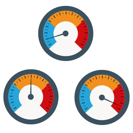 Temperaturanzeige in Grillrost mit der Ausrüstung verwendet werden, Illustration
