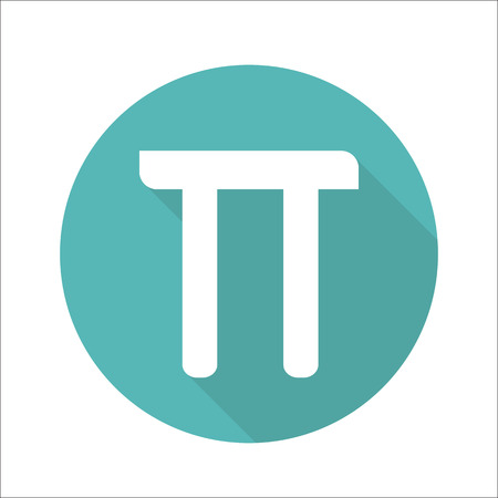 constant: Mathematic Pi icon flat.