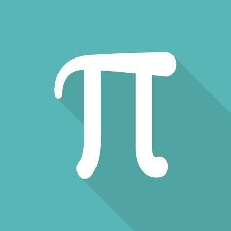 diameter: Mathematic Pi icon flat.