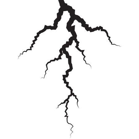 雷のシルエットをベクターします。  イラスト・ベクター素材