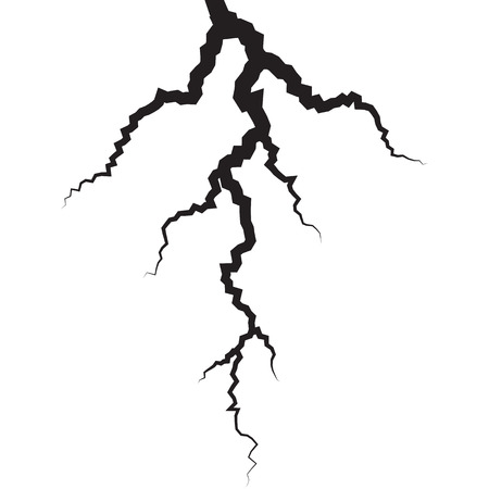 vector lightning silhouettes