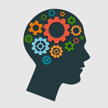 mente humana: Cabeza de cremallera Ilustración Vectores