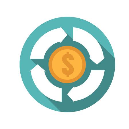 convert: money convert icon Illustration