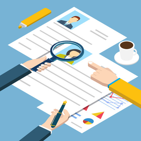 job interview: Job interview isometric Illustration