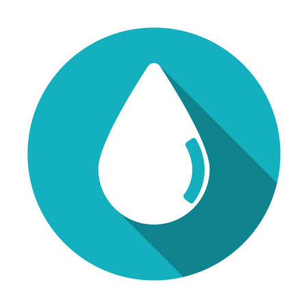 Pure clear water drops flat icon