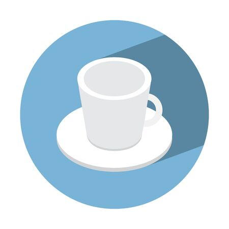 coffe cup: coffe cup empty isometric icon