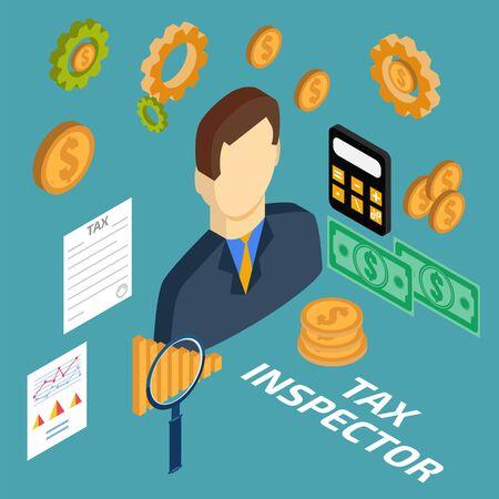 kontrolleur: Steuerinspektor isometrische
