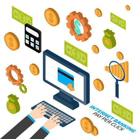 pay: Internet banking. Pay per click