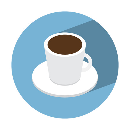 coffe cup: coffe cup isometric icon