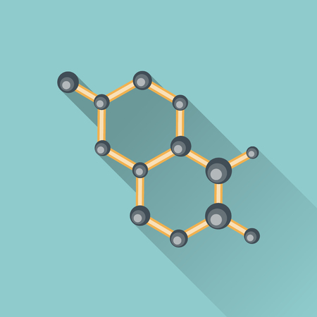 atomic: The atomic model icon flat style. Illustration
