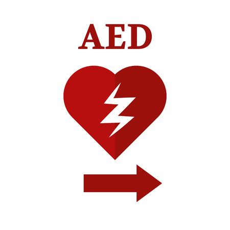 tachyarrythmia: defibrillator icon Illustration