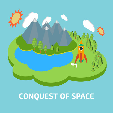 conquest: Conquest of space. Space isometric elements.