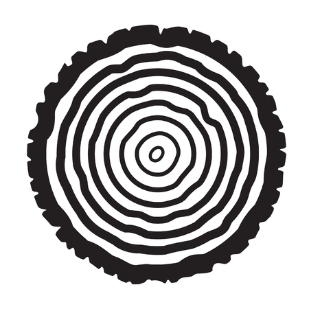 plywood: Tree rings background. Annual tree