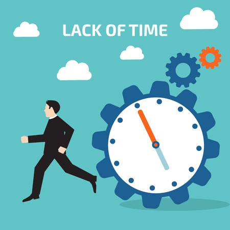 overworking: Lack of time Illustration