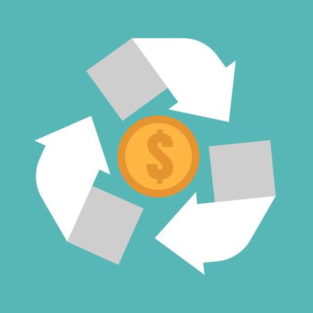 refresh rate: money convert icon Illustration