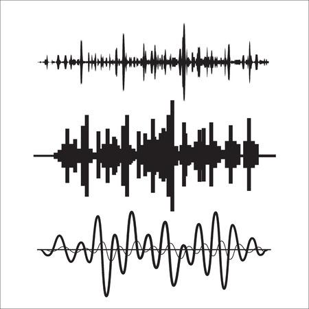 vague: Vecteur vagues sonores fix�es Illustration