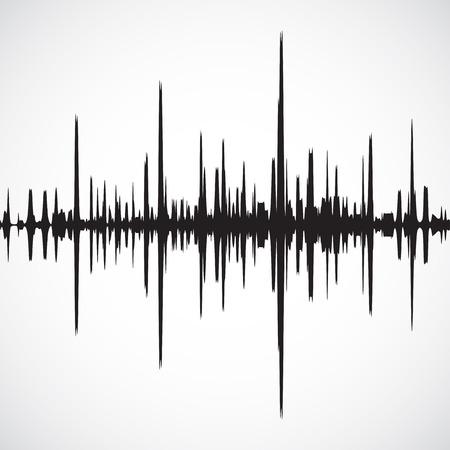 Vector geluidsgolven achtergrond Stockfoto - 43248895