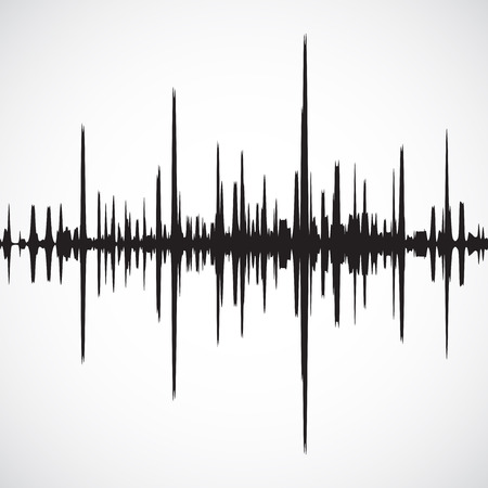 Vector sound waves background