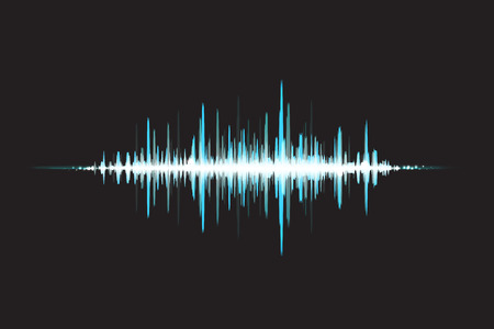 sound wave: Waves Sound in glow light. Abstract background. Vector illustration