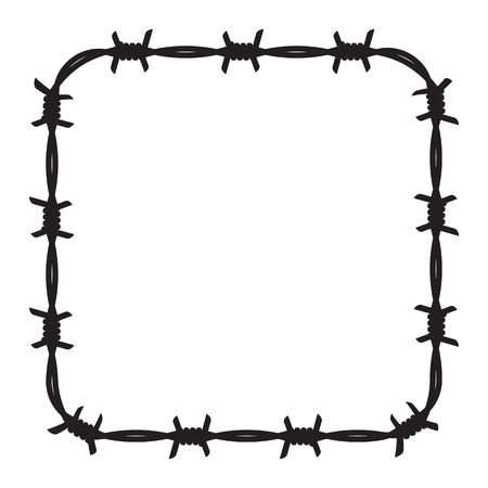 4,210 Barbed Wire Stock Illustrations, Cliparts And Royalty Free ...