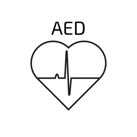 defibrillator: Defibrillator  linear icon Illustration