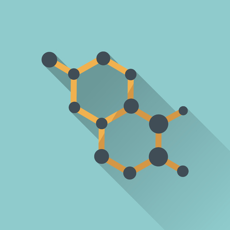 atomic: The atomic model icon flat style. Illustration