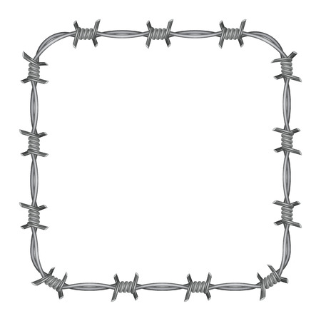 barbed wire frame: Frame barbed wire