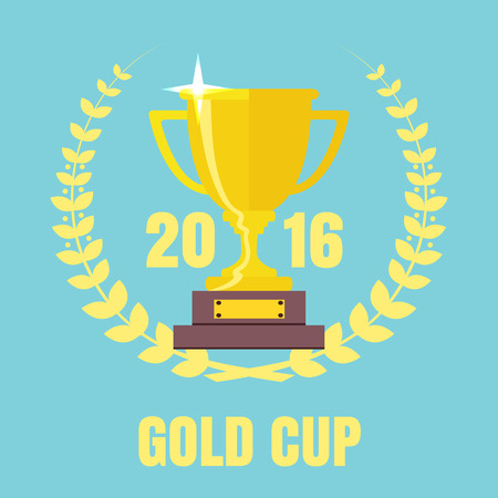 Champions Cup Symbol Vektor. Trophy-Symbol. Trophäecup Flach Vektor-Icon-