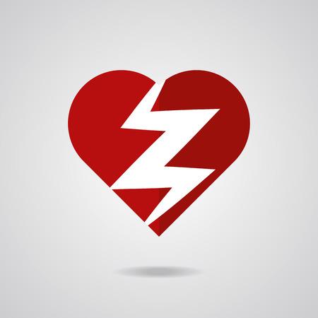 heart attack: Heart attack icon