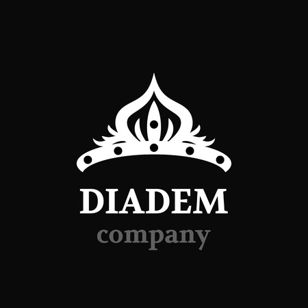 pageant: Diadem vector silhouette icon. Diadem logo company.
