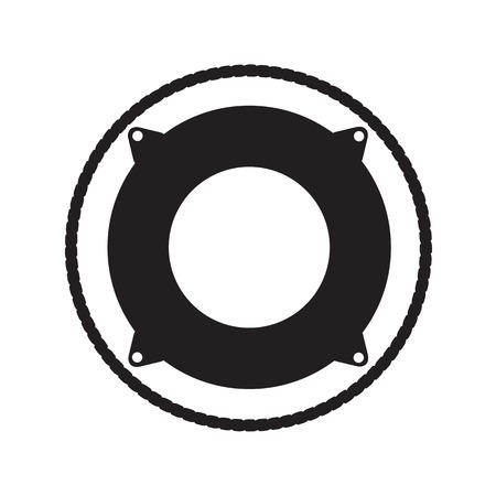 lifebouy icon silhouette