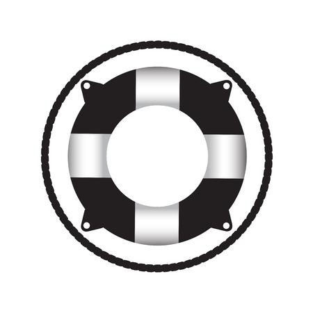 lifebouy icon black and white