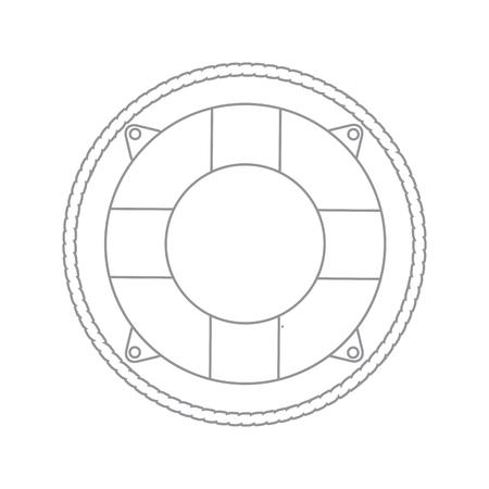 lifebouy icon linear Illustration